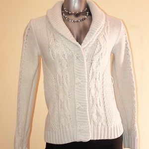 Kaisely Long Sleeve Snap Up Cardigan Sweater